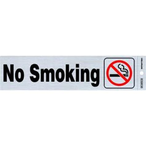 no smoking sign plastic the hillman group 2 in x 8 in plastic no smoking sign