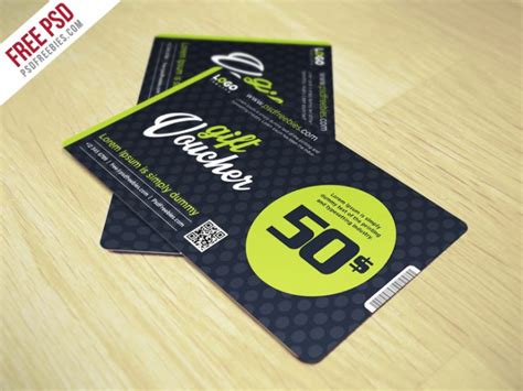 Spa And Wellness Gift Card Promo Code - gift voucher coupon card psd freebie download download psd
