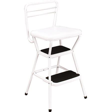 Walmart Kitchen Step Stool by Cosco Chair With Step Stool White Walmart
