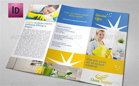 cleaning service brochure templates cleaning services brochure