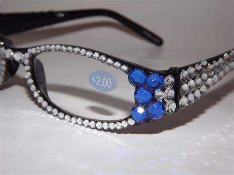 rhinestone bling reading glasses by evrhinestones on etsy