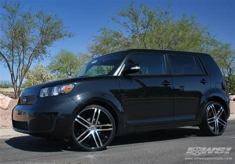 scion xb 2007 2007 scion xb with 20 quot mkw closeouts m72 in black machined