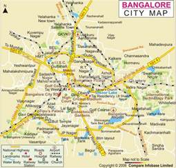 Bangalore India Map by Bangalore Map