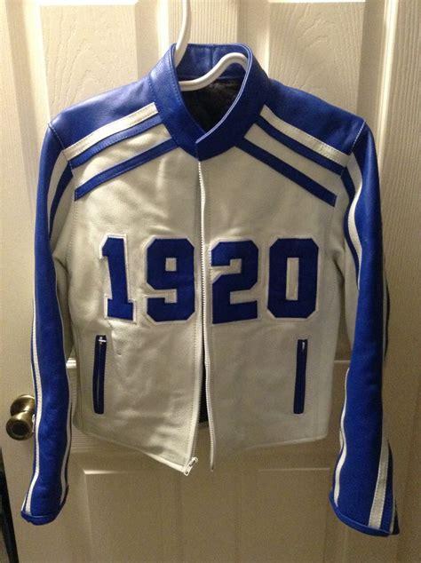 Betta Blue Bolouse my zeta biker jacket zeta phi beta sorority inc