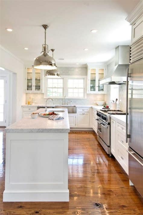 White Pendant Lights Kitchen Chic White Kitchens For 2014