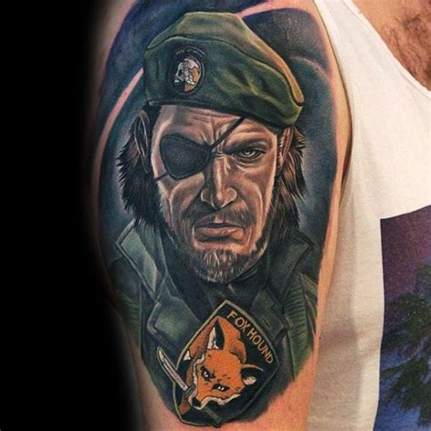foxhound tattoo 50 metal gear designs for gaming ink ideas