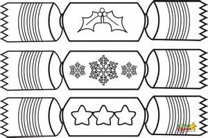 free coloring pages of christmas cracker