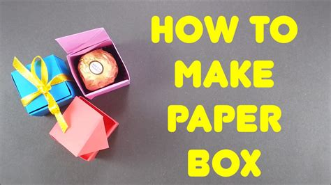 How To Make A Paper Box That Opens - how to make paper box easy origami step by step tutorial