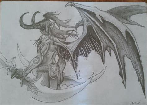sketch your world drawing world of warcraft illidan stormrage draw by hunmarkov on