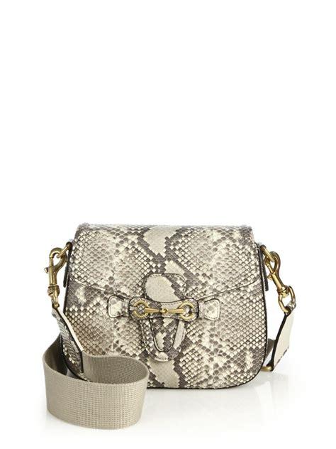 Gucci Python Bag by Lyst Gucci Web Python Shoulder Bag In Gray