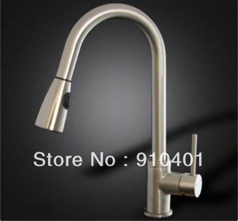solid brass pull down kitchen faucet nickel brushed solid brass in brushed nickle pull down 2 function stream