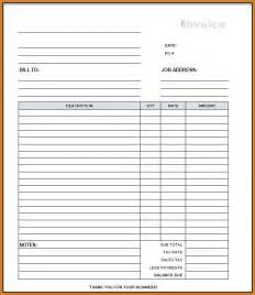 invoice template blank blank invoice template pdf notary letter