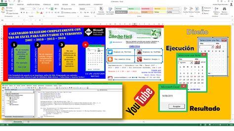 Calendario Vba Nativo Para Excel 2007 2010 2013 | calendario vba nativo para excel 2007 2010 2013 2016