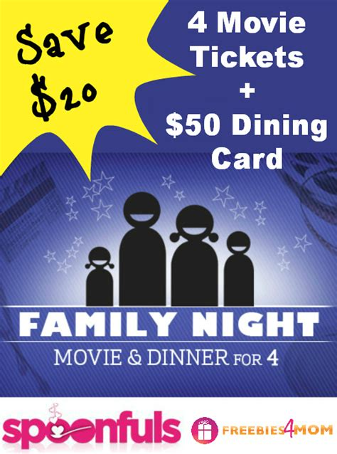 What Theaters Accept Fandango Gift Cards - 50 family movie night 4 movie tickets 50 dining gift card