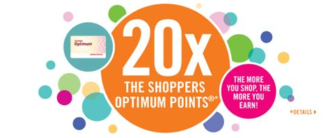 Redeem Shoppers Optimum Points For Gift Cards - london shopper shoppers drug mart 20x points mega bonus redemption 8000 bonus on