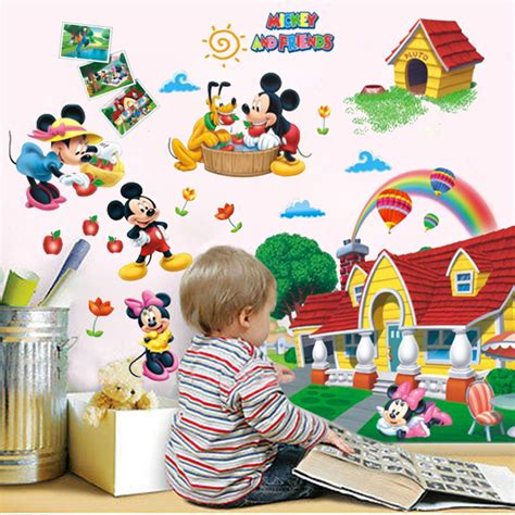 mickey mouse clubhouse schlafzimmer ideen gro 223 3d wandsticker mickys clubhaus aufkleber kinder
