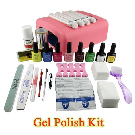Uv Nail Gel Kits With L gel set soak led uv gel kit uv 36w curing l file nail diy tools with base top