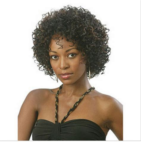 kinky curly short weaves for black woman 2015 new stylish fashion short afro kinky curly wigs for