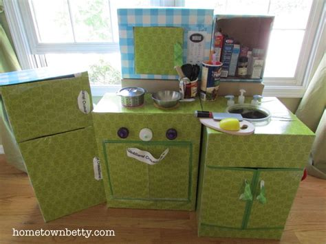 How To Make A Play Kitchen by Build Your Toys Out Of Cardboard Boxes Because Let S