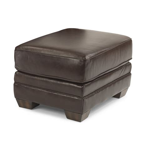 leather nailhead ottoman flexsteel 3270 08 harrison leather ottoman with nailhead