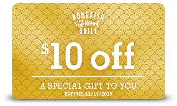 Bonefish Grill Gift Card Walgreens - 10 off at bonefish grill