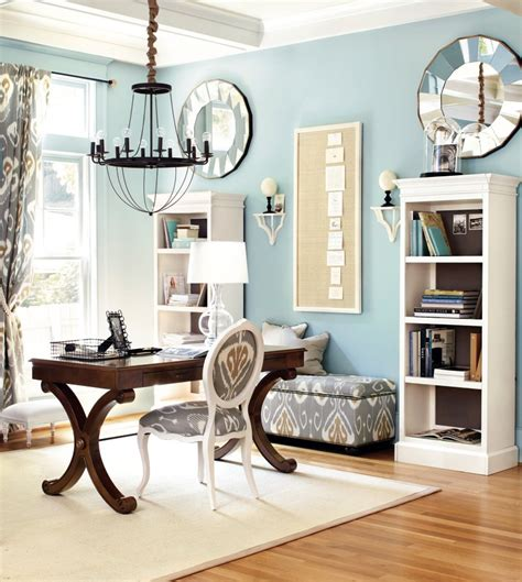 7 cool home office design ideas flexjobs light blue home office with gray accents office