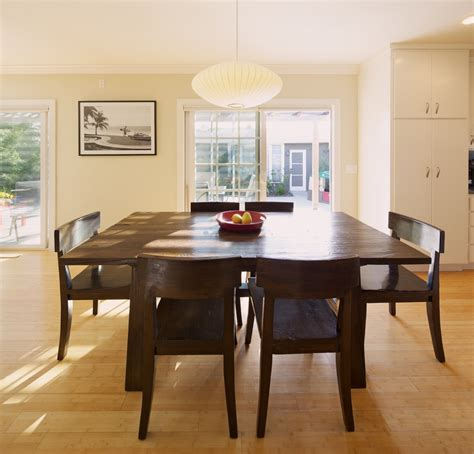 large square dining table dining room eclectic with area