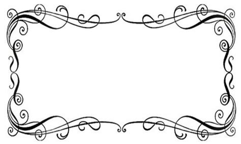 decorative borders for name tags free clipart templates clipart best