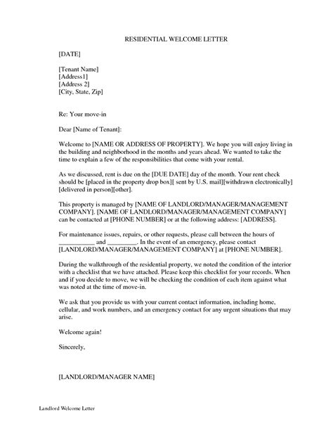 vacation rental letter template examples letter