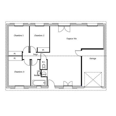 Plan Maison Plain Pied 100m2 4121 by Plan De Maison Plain Pied 100m2 Kq67 Jornalagora