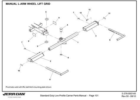 tow truck parts diagram jerr dan wheel lift parts diagrams jerr dan carrier parts