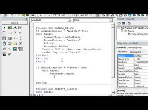 tutorial visual basic access 2007 visual basic 6 0 connect to access 2007 database acc