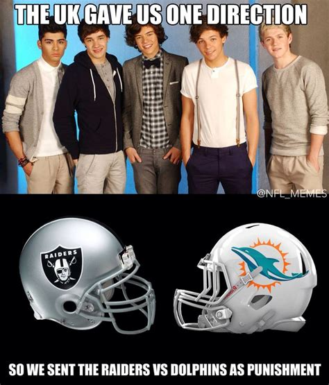Nfl Memes Raiders - perfect i hate one direction and the raiders sports