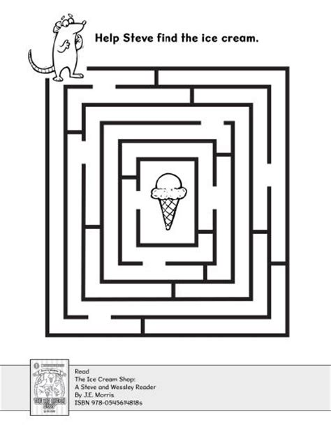 printable mazes for elementary school find the ice cream in the maze maze school and activities