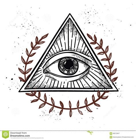 illuminati simboli vector illustration all seeing eye pyramid