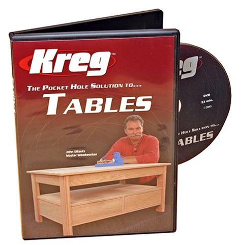 kreg v05 dvd the pocket solution to tables free