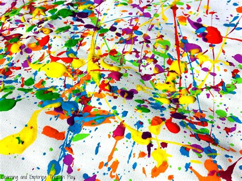 painting for free to play learning and exploring through play jackson pollock