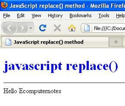 javascript pattern matching replace javascript string replace method