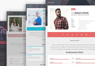 Personal Resume Website by 18 Best Html Resume Templates For Awesome Personal