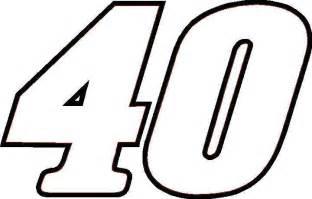 nascar decals 40 race number sticker outline