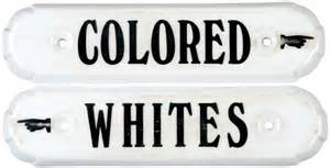 colored signs 365 whites and colored segregation signs lot 365