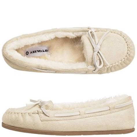 airwalk house shoes women s flurry moc airwalk moccasins slippers new white shoes