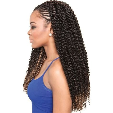 2 braids with weave isis collection caribbean bundle braids cork screw