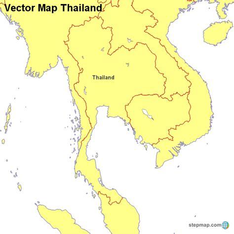 vector map thailand vector map thailand countrymap landkarte f 252 r thailand