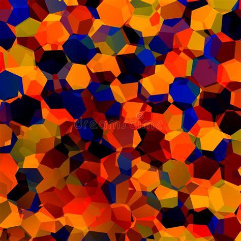 Xlrd Background Pattern Color Index | 抽象五颜六色的混乱几何背景 生产艺术红色蓝色橙色样式 色板显示样品 六角形状 库存例证 插画 包括有 图象