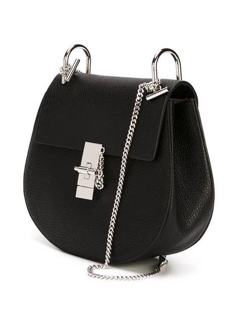 chloe bag drew chlo 233 drew shoulder bag in black lyst
