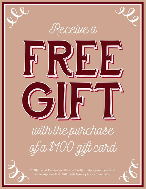 Gift Card 24 Hour Activation - free gift with the purchase of a 100 gift card ladies gentlemen salon and spa