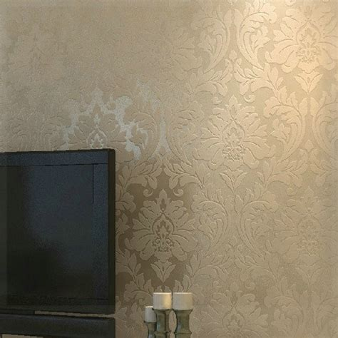 metallic bedroom wallpaper non woven metallic wallpaper modern background wall