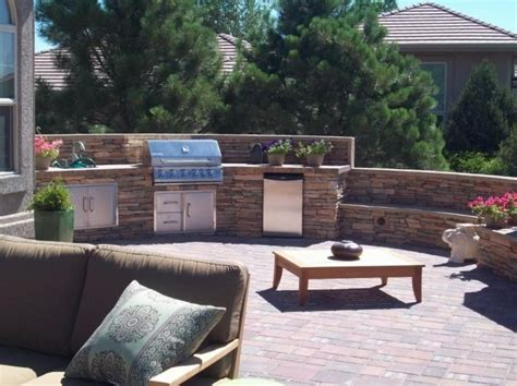 built in backyard bbq outdoor kitchen colorado springs co photo gallery