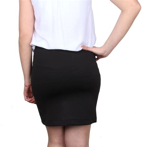 womens mini skirt elasticated waist slip on